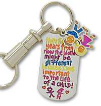 Important to a child... key chain